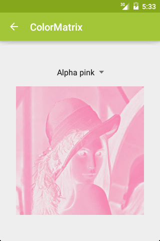 ColorMatrix: Alpha pink