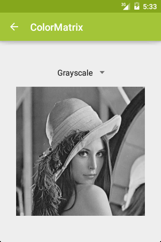 ColorMatrix: Grayscale