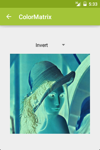 ColorMatrix: Invert