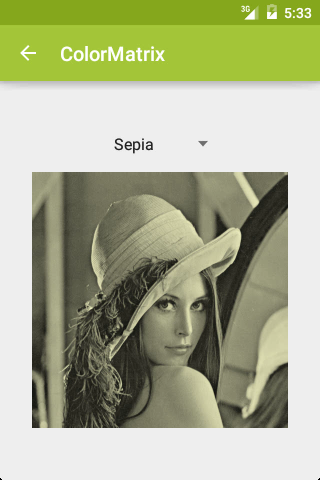 ColorMatrix: Sepia